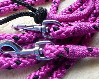 Braided rope halter+reins+lead