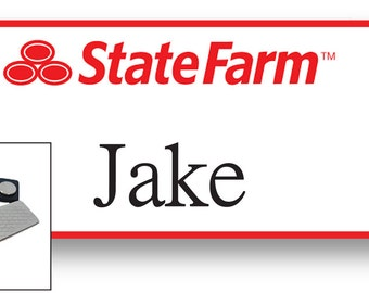 1 JAKE From State Farm Halloween Costume Name Badge Tag with a magnet Fastener SHIPS FREE