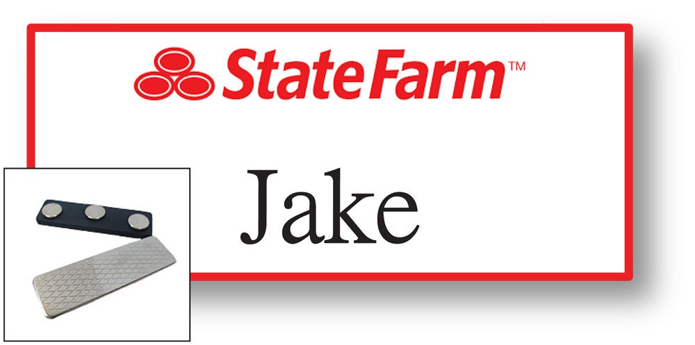 Playful image pertaining to jake from state farm name tag printable