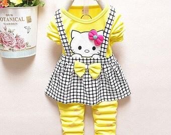 Baby Girl Hello Kitty Clothing Set