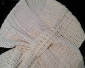 Handmade Crochet Shawl with slits to hold shawl together