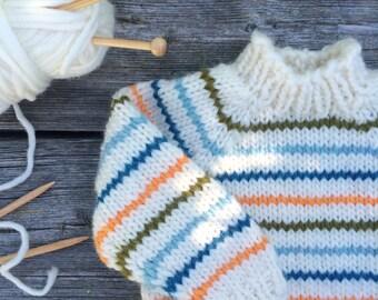 Handknittet Baby Wool Sweater