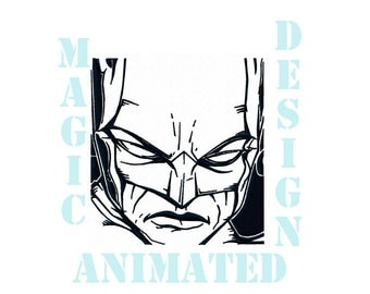 Batman Machine Embroidery Design in 3 sizes ---Instant download---