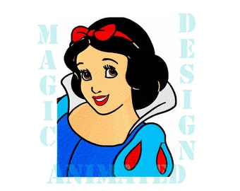 Snow White Machine Embroidery Design in 2 sizes ---Instant download---