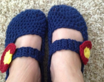 Colorado Flag Mary Jane slippers