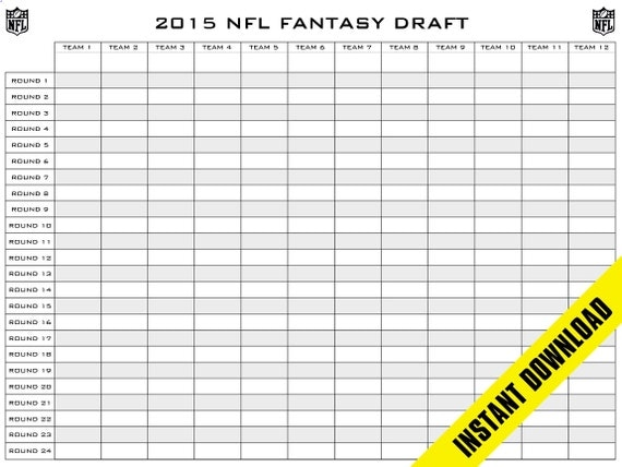Revered image intended for printable fantasy football draft boards