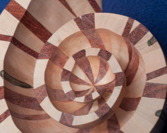 wooden nautilus shell scupture
