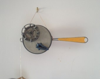 Sleeping with the Fishes - Fish Art made from repurposed concrete, strainer and more...