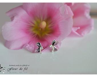 Earrings Purple Butterflies