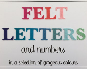 15 Felt Letters and Numbers - Die Cut - Selection of Colours - Personalised - Old Font