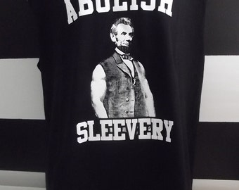 Abolish Sleevery Tank T All Sizes and Color 100% Cotton Screen Print