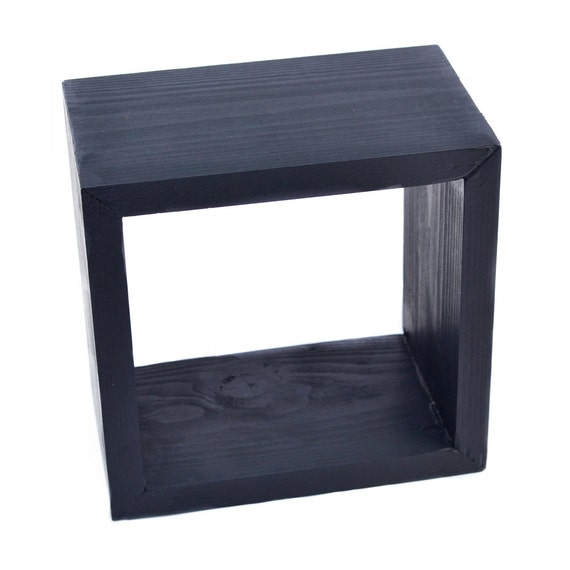 wall mounted shelf display unit wooden floating cube box. Black Bedroom Furniture Sets. Home Design Ideas