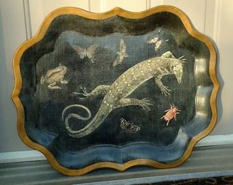 Tinware-Toleware Vintage Tray