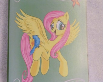 Fluttershy - My Little Pony - Brony Character - Just over A5 size -