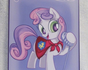 Sweetie Belle - My Little Pony - Brony Character - Just over A5 size -