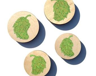 Pop Art Beer Hop Mini-Painting Magnet