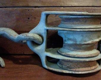 Industrial Pulley W/Hook Barn Pulley All Steel