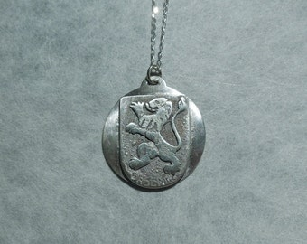 Custom Made Charm Code of Arms City Seal in Silver