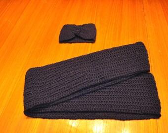 Infinity scarf with headband