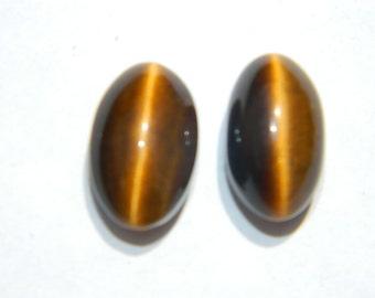 Tiger Eye Cabochon-Tiger's eye cabochon, Tiger eye oval cabochon-gemstone cabochon -