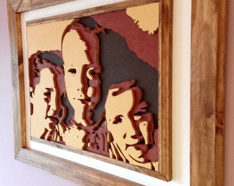 Custom Portrait made from layered wood