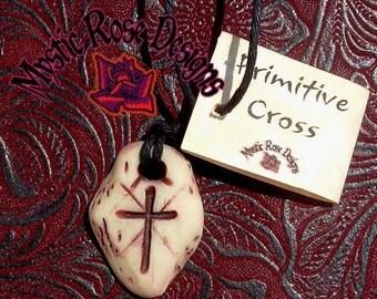 Primitive Cross, bone chip style