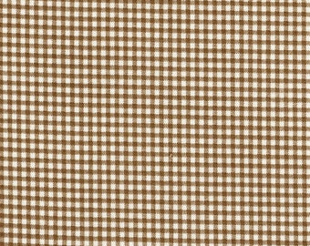 Tailored Bedskirt Suede Brown Gingham Check