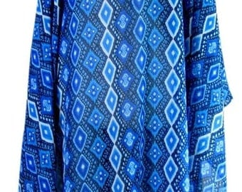 Gorgeous printed chiffon tunic