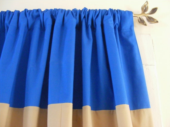 Horizontal Striped Curtain Panels Blue And By Jojoscurtainshop