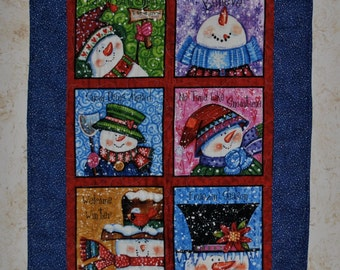 Snowman Quilt Wall Hanger