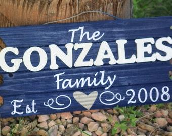EST. Family Sign.