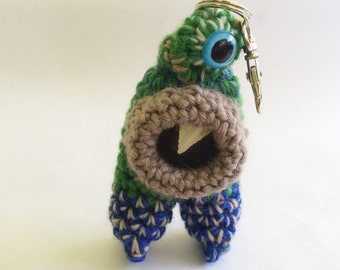 Monster Keychain or Ornament, Plush Doll - Kurtis