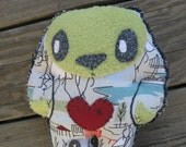 Horace has a big Heart art doll plush stuffed OOAK