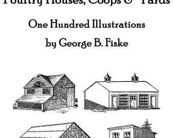 Poultry Chicken Barns Floor Plan Book Bouild Your Own Barn Plans 1902 Self-sufficient Raise Chickens Eggs Chicks Fowl