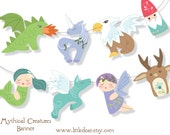 Printable Mythical Creatures Banner PDF