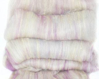 handcarded batt spinning fiber 4.5 oz