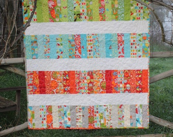 Color Block Coins - Modern Baby Quilt