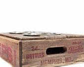 Elevated Vintage Wood Crate Dog Feeder.  No. 7.