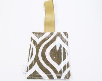 Luggage Tag / Bag Tags / Cute Luggage Tags - chocolate brown mod