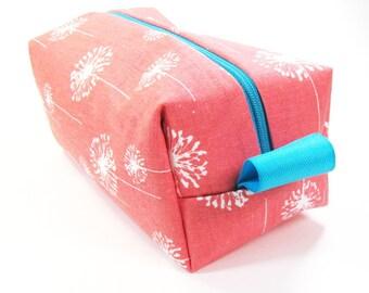 Makeup Bag / Cosmetic Bag/ Travel Bag / Toiletry Bag - Coral Dandi