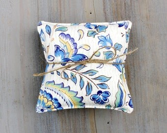 Blue Floral Lavender Sachets, Classic Provençal, French Country Style
