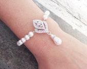 Art Deco Bridal Bracelet, Wedding Bracelet, Great Gatsy Inspired Bracelet, Wedding Jewelry, IVANA