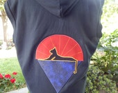 Mens Upcycled Hoodie Vest Grateful Dead Cats Under Stars & Jerry Hand Zip Up Hoodie OOAK Size L Patchwork  Hippie clothes, hoody boho chic