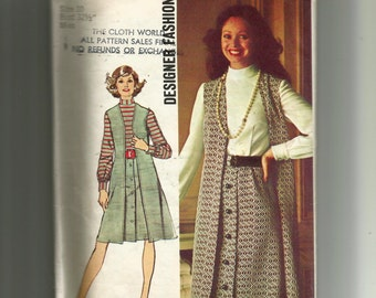 Simplicity  Misses' One Piece Dress and Vest Pattern 5183