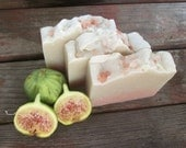 FIG + OLIVE handmade soap- fig soap- rose clay soap- bentonite clay soap