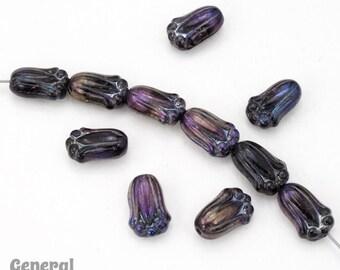 12mm Iridescent Black Tulip Bead (100 Pcs) #3687