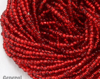 10/0 Silver Lined Red Czech Seed Bead (Hank) #CSC027