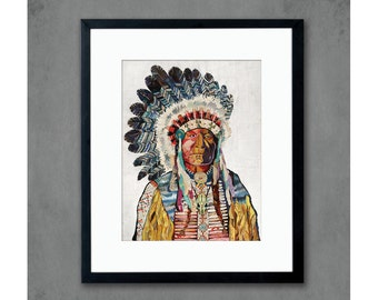 American Heritage (Chief) Print on Paper
