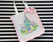 Fantasy Castle Printed Oversize Tote Bag