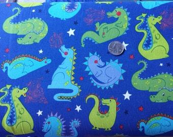 Baby Dragon Alexander Henry Fabric Navy Blue 1 yard